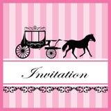 Zaproszenie karta Obraz Royalty Free