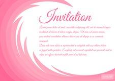 Zaproszenie karta dekoruje z kwiecistymi curlicues ilustracja wektor