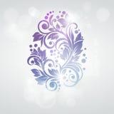Kwiecisty Wielkanocnego jajka tło. Nowożytna karta dla invi Obrazy Royalty Free
