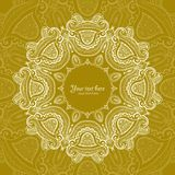 Zaproszenie karta z koronkowym ornamentem Fotografia Stock