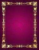 Zaproszenie karta z ornamentacyjną ramą i tłem Zdjęcia Royalty Free