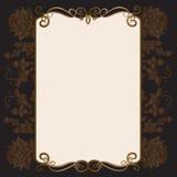 Zaproszenie karta z ornamentacyjnymi elementami Obraz Stock