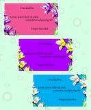 Zaproszenie karty z kwiecistymi elementami Obraz Royalty Free