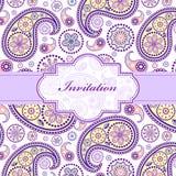Zaproszenie kolorowa kwiecista karta Zdjęcie Royalty Free