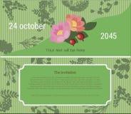Zaproszenie kwiatu jarmark ilustracji