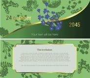 Zaproszenie kwiatu rynek ilustracja wektor