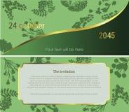 Zaproszenie kwiatu rynek royalty ilustracja