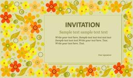 zaproszenie kwiaty Obrazy Stock