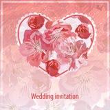 zaproszenie ślub Obraz Royalty Free