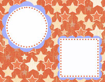 Zaproszenie lub scrapbook układ Obraz Royalty Free