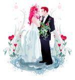 zaproszenie na ślub royalty ilustracja