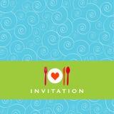 zaproszenie na obiad ilustracji