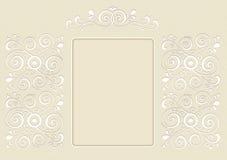 Zaproszenie, obrazek, dekorujący z ornamentem Zdjęcie Stock