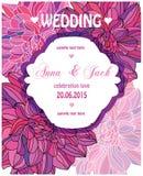 zaproszenie piękny ślub Obrazy Stock