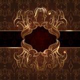 Zaproszenie rocznika karta z bezszwowym wzorem Royalty Ilustracja