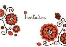 Zaproszenie szablon Obrazy Royalty Free