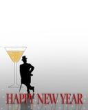 zaproszenie wigilii nowego roku ilustracji