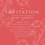 Zaproszenie z bogatym tłem w renesansu stylu szablon Obrazy Royalty Free