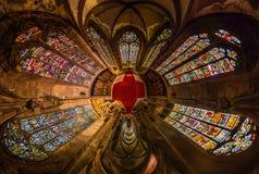 Zaprowadzone tafle Sainte George kościół Selestat, mała planeta obrazy royalty free
