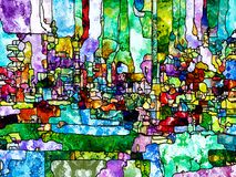 Zaprowadzony szklany abstrakt obraz royalty free