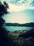 Zapuntel, ilha de Molat, Croácia Fotos de Stock Royalty Free