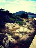 Zapuntel, isola di Molat, Croazia Immagine Stock