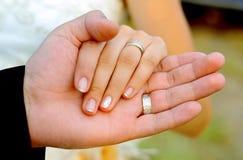 zaręczynowe ręki Zdjęcia Stock