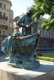 Zar - carpentiere, monumento a Peter I, St Petersburg Immagine Stock