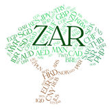 Zar Currency Indicates South African Rands And Currencies Stock Photos