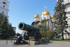 Zar-Kanone beim Kreml, Moskau Russland Lizenzfreie Stockfotos