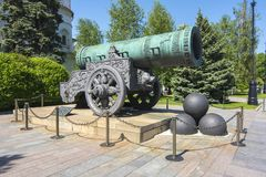 Zar-Kanone in Moskau der Kreml, Russland stockbilder