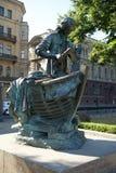 Zar - Tischler, Monument zu Peter I, St Petersburg Stockbild