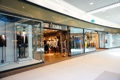 Zara clothes store Royalty Free Stock Images