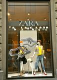 Zara fashion shop in Italy Royalty Free Stock Images