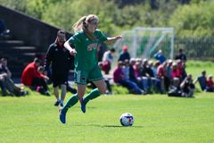Zara Foley at the Women`s National League game: Cork City FC vs Galway WFC. May 12th, 2019, Cork, Ireland - Zara Foley at the Women`s National League game: Cork stock photos