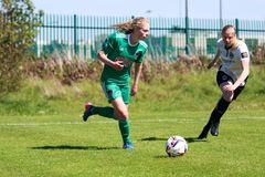 Zara Foley at the Women`s National League game: Cork City FC vs Galway WFC. May 12th, 2019, Cork, Ireland - Zara Foley at the Women`s National League game: Cork royalty free stock images