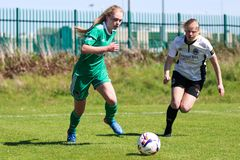 Zara Foley at the Women`s National League game: Cork City FC vs Galway WFC. May 12th, 2019, Cork, Ireland - Zara Foley at the Women`s National League game: Cork royalty free stock photography