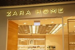 Zara Home lageryttersida Arkivfoto