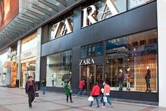 Zara lager i Peking, Kina Arkivfoto