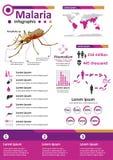 Zaraźliwa Choroba Infographics - malaria Obrazy Royalty Free