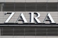Zara Logo Royalty Free Stock Photo