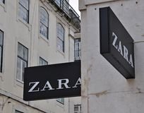 Zara logo Royalty Free Stock Images