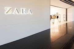 Zara store in Marineda city shopping mall stock photos