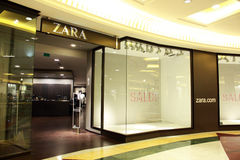 Zara shop. In rome, Euroma due shopping center, during sales Stock Images