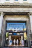 Zara-Speicher in Barcelona Lizenzfreies Stockbild