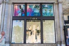 Zara-Speicher in Barcelona Lizenzfreie Stockfotografie