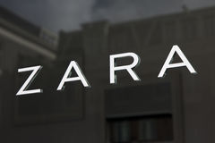 Zara on a store in Amsterdam royalty free stock photo