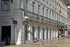 Zara store, Augusta street, Lisbon Royalty Free Stock Images