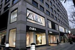ZARA store in hangzhou. City, Zhejiang province, China stock photo