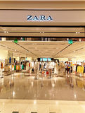 Zara Store in Rome, Italy with people shopping. Stock Photo
